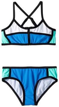 Seafolly Sapphire Coast Color Block Tankini Set Girl's Swimwear Sets