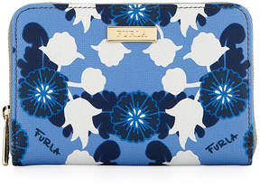 Furla Classic Medium Floral-Print Zip Wallet
