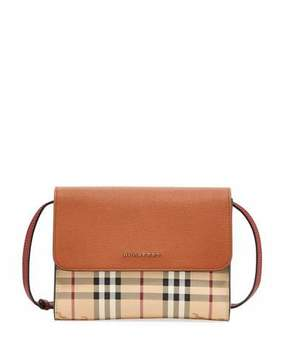 Burberry Loxley Haymarket Small Shoulder Bag, Brown Pattern - BROWN PATTERN - STYLE