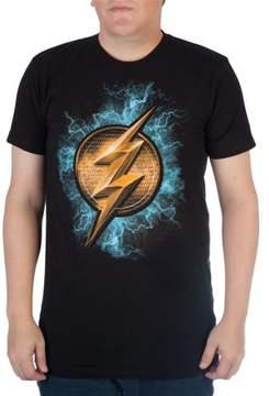DC Comics Men's The Flash Emblem and Lightening Graphic Tee