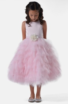 Us Angels Toddler Girl's Satin & Tulle Dress
