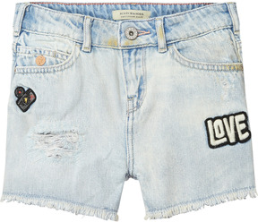 Scotch & Soda Petit Ami Shorts - Lucky Blue   Slim Boyfriend Fit