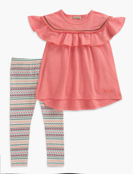 Lucky Brand SHORT SLEEVE TOP & STRIPE LEGGINGS SET