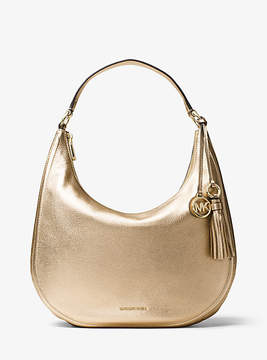 Michael Kors Lydia Metallic Leather Shoulder Bag - GOLD - STYLE