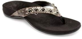 Vionic Floriana Leather Thong Sandals