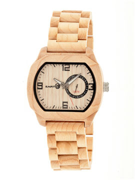 Earth Wood Scaly Khaki Bracelet Watch with Date ETHEW2101