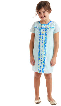 Vineyard Vines Girls Embroidered Scoop Neck Dress