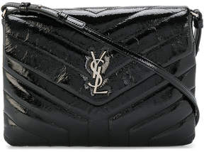 Saint Laurent Lou Lou clutch - BLACK - STYLE