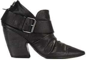 Marsèll buckled rear zip boots