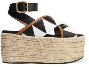 Marni Leather And Patent-Leather Platform Sandals