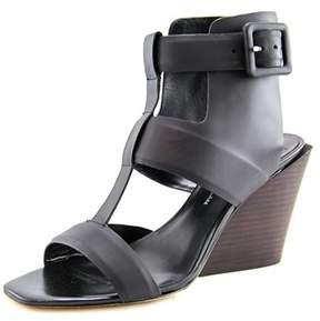 Derek Lam Campbell Women Open Toe Synthetic Black Wedge Sandal.