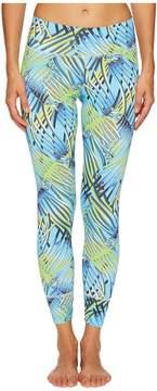 Letarte Blue Palm Leggings Women's Swimwear