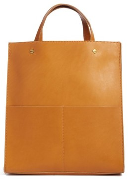 Madewell The Passenger Convertible Leather Tote - Brown