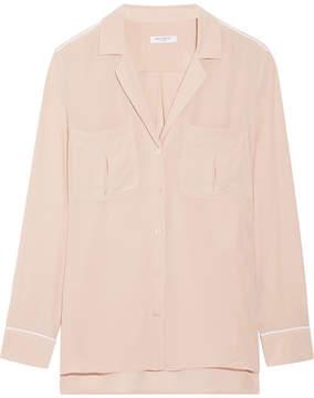 Equipment Sonny Washed-silk Shirt - Blush