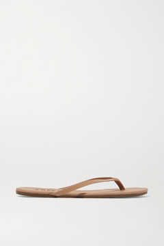 TKEES Lily Matte-leather Flip Flops - Sand