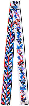 Emilio Pucci floral print skinny scarf