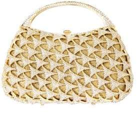 Natasha Crystal-Studded Top Handle Bag