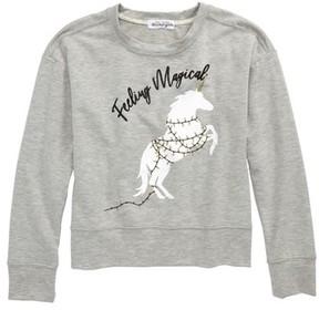 Ten Sixty Sherman Girl's Feeling Magical Christmas Unicorn Sweatshirt