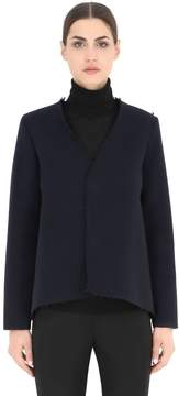 Es'givien Pleated Wool Blend Ottoman Jacket