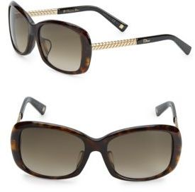 Christian Dior 56MM Rectangle Sunglasses