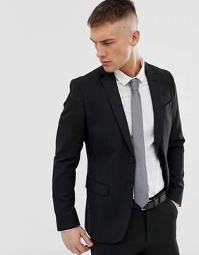 New Look Skinny Fit Suit Jacket In Black