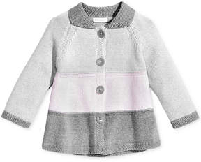 First Impressions Colorblocked Sweater Coat, Baby Girls (0-24 months), Created for Macy's