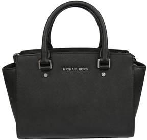 Michael Kors Selma Satchel Bag - BLACK - STYLE