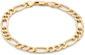 JCPenney FINE JEWELRY Made in Italy Mens 10K Gold 6.7mm 8.5 Hollow Figaro Bracelet