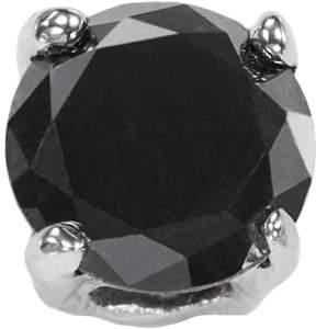 Black Diamond Stainless Steel 1/4 Carat T.W. Stud - Single Earring