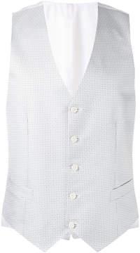 Canali micro design waistcoat