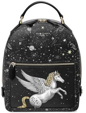 Aspinal of London Pegasus Backpack In Black Pegasus Constellation Print