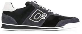 DSQUARED2 Men's Grey/black Suede Sneakers.