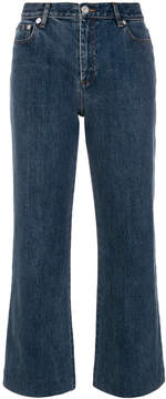 A.P.C. cropped flared jeans