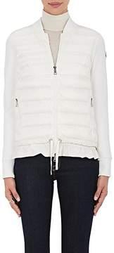 Moncler Women's Ruffled-Hem Combo Sweater