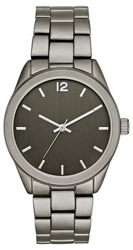 Mossimo Men's Matte Finish Bracelet Watch Gunmetal