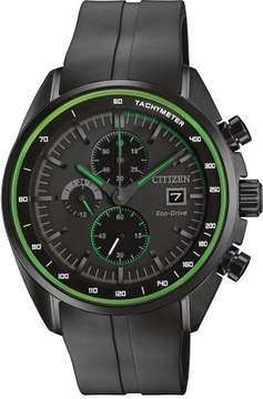 Citizen HTM CA0595-11E Black Polyurethane Analog Eco-Drive B612 Men's Watch