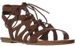 American Rag Ar35 Marlie Flat Lace-up Sandals, Maple.