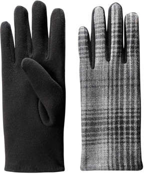 Joe Fresh Women's Check Gloves, Black (Size O/S)