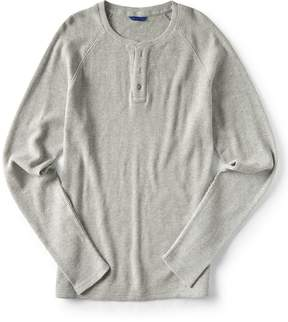 Aeropostale Final Sale - Long Sleeve Solid Thermal Henley