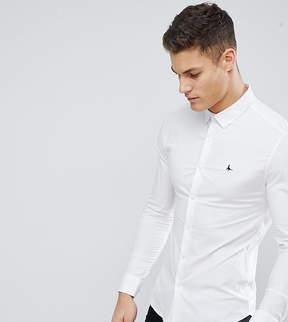 Jack Wills Hinton Skinny Fit Poplin Stretch Shirt in White