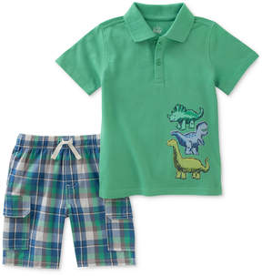 Kids Headquarters 2-Pc. Cotton Polo Shirt & Plaid Shorts Set, Little Boys