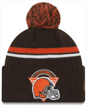 New Era Cleveland Browns Diamond Stacker Knit Hat