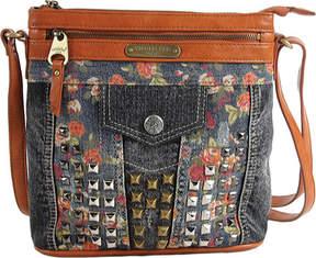 Nicole Lee Rikky Floral Studded Denim Cross Body Bag (Women's)