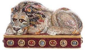 Judith Leiber Crystal-Embellished Lion Minaudière