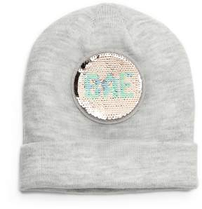Mudd Bae & Boss Reversible Sequin Beanie