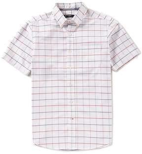 Daniel Cremieux Large Check Oxford Short-Sleeve Woven Shirt