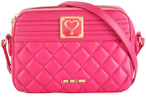 Love Moschino Quilted Napa Faux Crossbody Bag, Pink