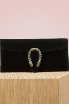 Gucci Dionysus velvet clutch - PAVONE BLK DIAMOND - STYLE