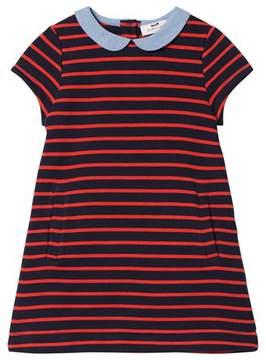 Cyrillus Navy Stripe Short Sleeve Dress