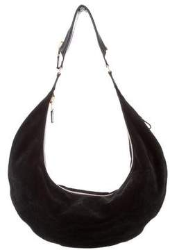 Tom Ford Leather-Trimmed Suede Hobo